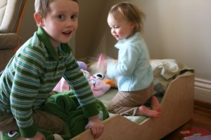 Fun on Aero Toddler Bed
